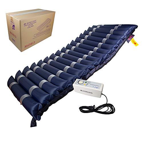 Mobiclinic, Materasso antidecubito, Mobi 3, Marchio UE, Con compressore Marcatura CE, a pressione alternata TPU Nylon, 200 x 80 x 12.8, 17 cellette, colore Blu