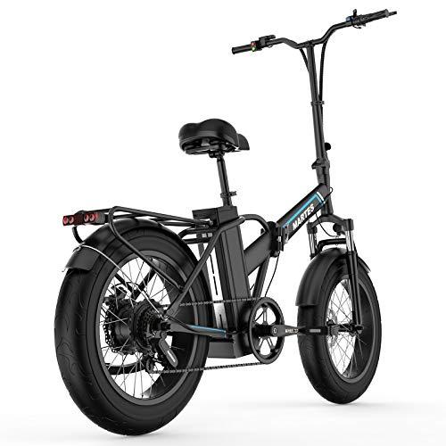 Bicicletta Elettrica Pieghevole Fat Tire 20'* 4' Con Batteria Agli Ioni Di Litio Da 48V15Ah, 750W Bicicletta Da Montagna Da Città A Lungo Raggio