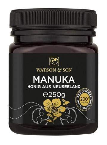 Watson & Son miele di manuka MGO 200+ 250g | Qualità Premium certificata dalla Nuova Zelanda | puro e naturale