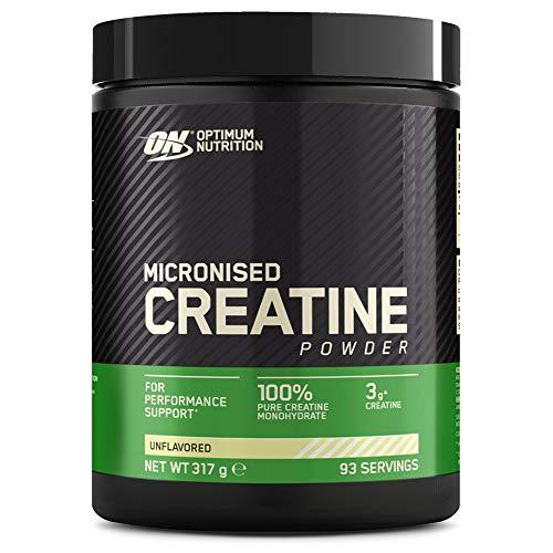 Optimum Nutrition Micronised Creatine Monohydrate, Creatina Monoidrato in Polvere, Integratori da Palestra per la Performance, Non Aromatizzato, 93 Porzioni, 317 g, il Packaging Potrebbe Variare