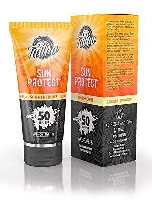 Believa Tattoo Crema Solare per Tatuaggi - Fattore di Protezione 50+ ( UVB +50 - UVA +95 ) 100ml