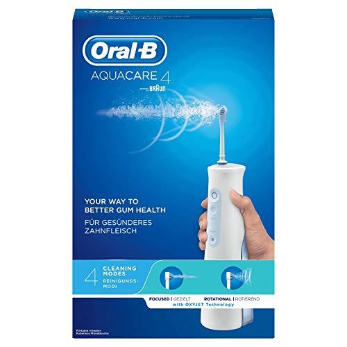 Oral-B Aquacare 4 - Idropulsore con Tecnologia Oxyjet, Bianco/Blu