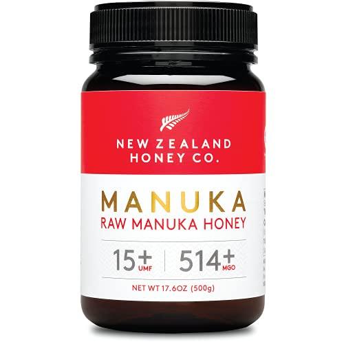 New Zealand Honey Co. Miele di Manuka MGO 514+ / UMF 15+ | Attivo e lordo | Prodotto in Nuova Zelanda | 500g