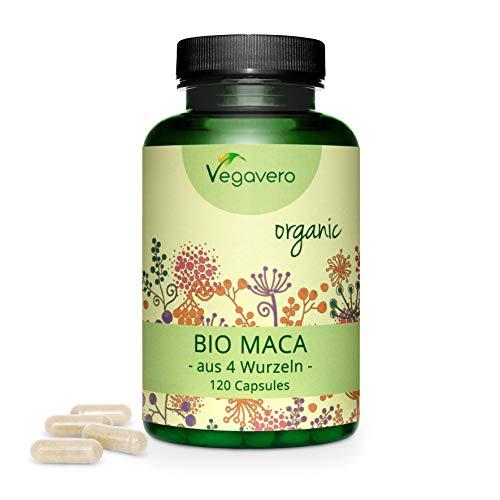 MACA Peruviana BIOLOGICA Vegavero® | 120 o 270 capsule | L'UNICA con 4 VARIETÀ DI RADICE | Afrodisiaco naturale | Vegan