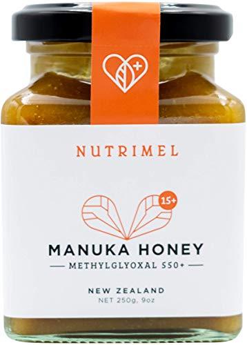NUTRIMEL Miele de Manuka 15+ (MGO 550+) testato e certificato | 100% puro Nuova Zelanda | (15+, 250)