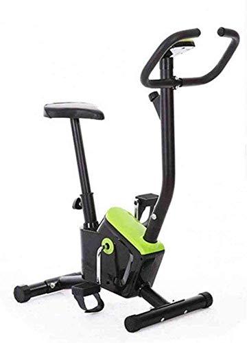 QTJ Pieghevole Elettromagnetico Cyclette, Attrezzature Fitness al Coperto, Formatore Verticale Fissa E Formatore Pieghevole per Casa Esercizio E L'esercizio Aerobico,Green
