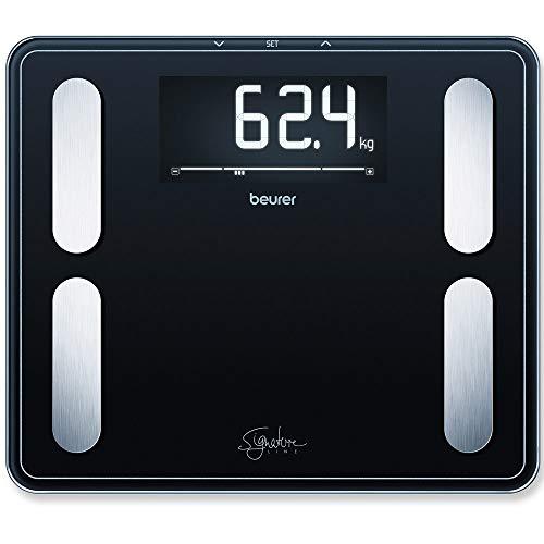 Beurer BF 410 Signature Line Black Bilancia Diagnostica XXL con Portata fino a 200 kg, 35 x 30 cm, Nero
