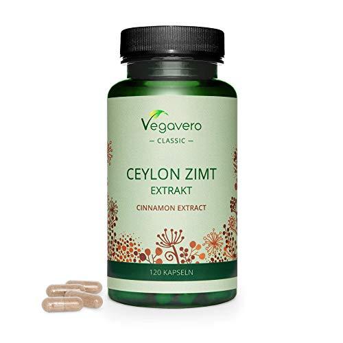 CANNELLA Vegavero® | 2000 mg | CEYLON Cinnamon: la varietà migliore | 120 capsule | Vegan