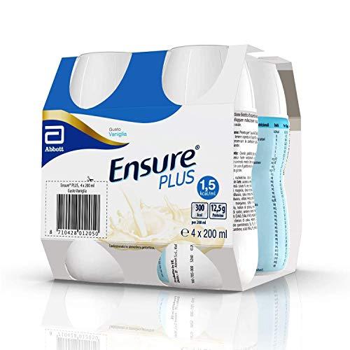 Ensure Plus Supplemento Nutrizionale Formato Bevanda | Confezione 4x200ml | Gusto Vaniglia