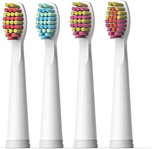 Testine di Ricambio Morbide per Spazzolino Elettrico Fairywill x 4 Rosso o Viola per Fairywill FW507,FW508,FW917,FW959 Series Pink Toothbrush FW04