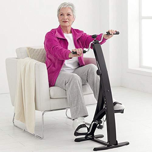 BAKAJI Pedaliera Allenamento Braccia Gambe Cyclette Cycle Bike Ginnastica Passiva Esercizio Fitness Riabilitazione Anziani (Dual Cycle Cyclette)