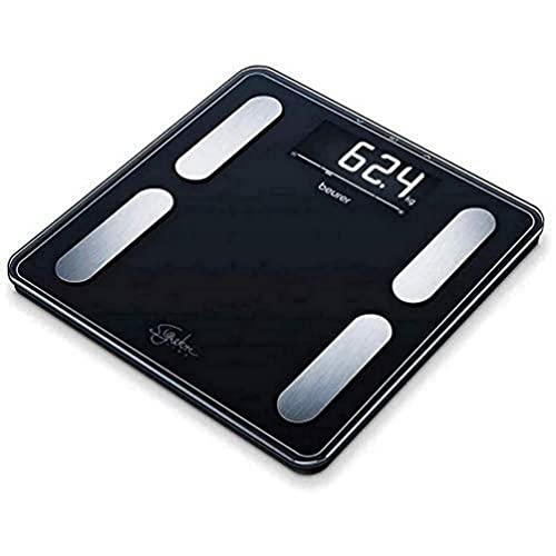 Beurer BF 400 Signature Line Black Bilancia Diagnostica con Portata fino a 200 kg, 31 x 31 cm, Nero