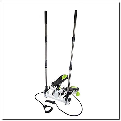 Stepper versione Nordic Walking con manubrio regolabile e elastici inlcusi!