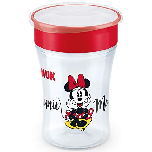 NUK Magic Cup Bicchiere Antigoccia per Bambini | Bordo 360 | 8+ Mesi | 230ml | senza BPA | Disney Minnie Mouse (Topolina)