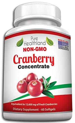 NON OGM Concentrato di Cranberry-Integratore Concentrato Mirtillo Rosso. Pari A 12600 Mg Di Mirtilli Freschi!
