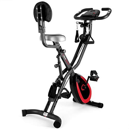 Ultrasport - Cyclette F-Bike 400B da casa, con schienale e corde, colore: nero opaco