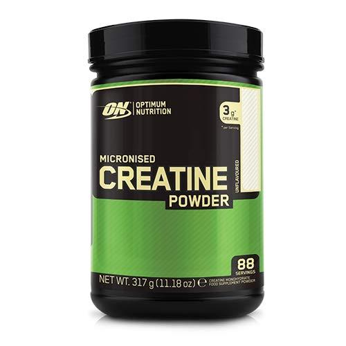 Optimum Nutrition Creatina Monoidrata (Micronised Creatine), Integratori Palestra per lo Sviluppo Muscolare, Non Aromatizzato, 317 g, 88 Porzioni, Polvere