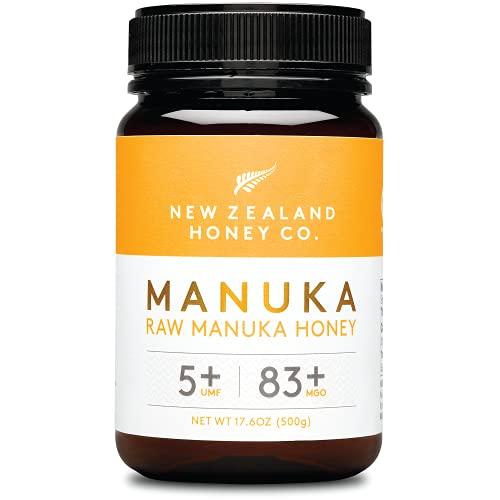 New Zealand Honey Co. Miele di Manuka MGO 83+ / UMF 5+   Attivo e lordo   Prodotto in Nuova Zelanda   500g