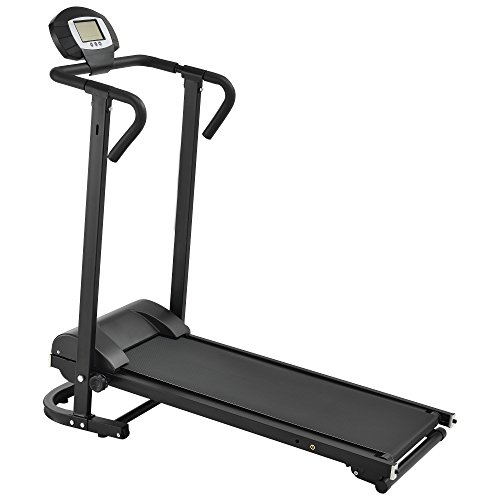 in.tec] Tapis roulant Meccanico [Nero] con LCD-Display ribaltibile hometrainer
