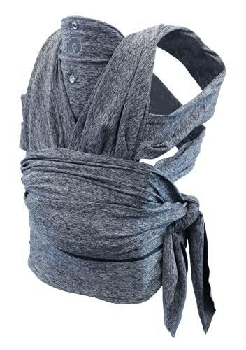 Boppy ComfyFit Porta Bebè in Tessuto, Cintura regolabile con lunghezza massima 54 pollici, Grigio