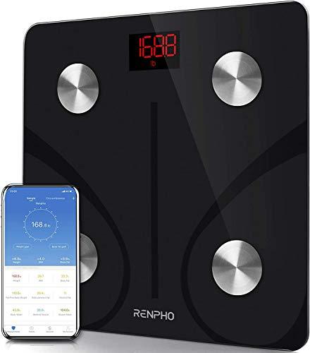 RENPHO Bilancia Pesapersone, Professionale Bilancia Impedenziometrica Bluetooth Bilancia Pesa Persona Digitale con App - Misura Peso Corporeo, Massa Grassa, BMI, Massa Muscolare, Massa Ossea, Proteine