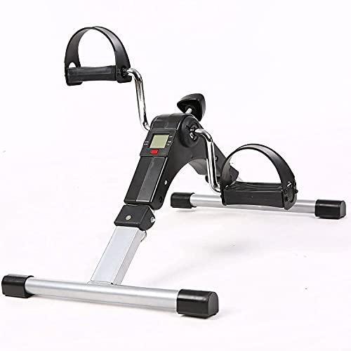 NIMO Pedali statici, mini cyclette statica, pedaliera pieghevole LCD schermo, macchina per braccia e gambe riabilitazione per fare esercizio in casa (Nero)