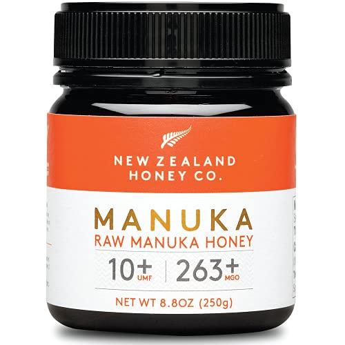 New Zealand Honey Co. Miele di Manuka MGO 263+ / UMF 10+ | Attivo e lordo | Prodotto in Nuova Zelanda | 250g