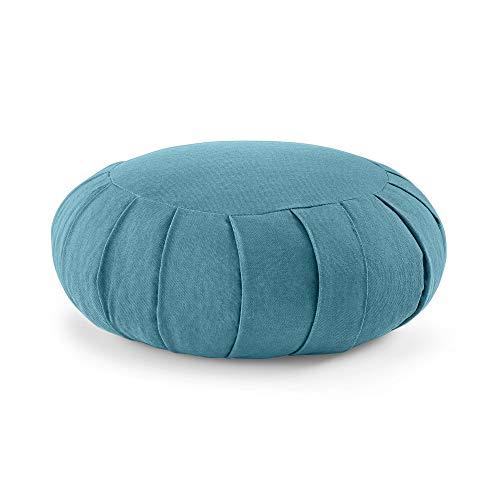 Lotuscrafts Cuscino Meditazione Zafu Zen - Altezza 15 cm - Rivestimento in Cotone - Ripieno di Farro - Cuscino Yoga Meditazione - Cuscino Zafu - Meditation Cushion - Certificato GOTS