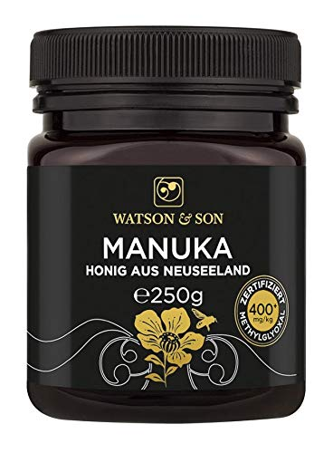 Watson & Son miele di manuka MGO 400+ 250g | Qualità Premium certificata dalla Nuova Zelanda | puro e naturale