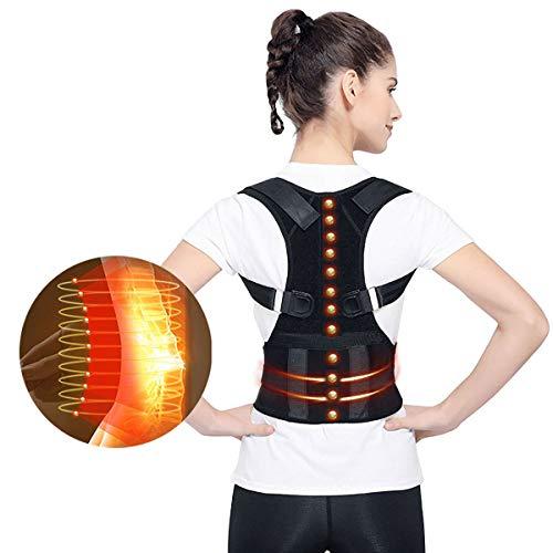 Supporto per terapia magnetica, supporto posturale – approvato dalla FDA per uso medico, correttore posturale regolabile per spalle, schiena, supporto lombare per dolori lombari e lombari