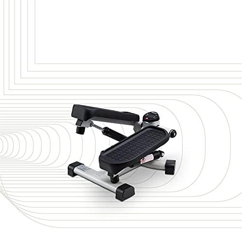 SportPlus Mini Stepper 2 in 1 con Tecnologia di Cambio Brevettata, Movimento Obliquo e Up and Down, Peso Utente fino a 100 kg, Cilindri Idraulici di Lunga Durata, Computer di Allenamento