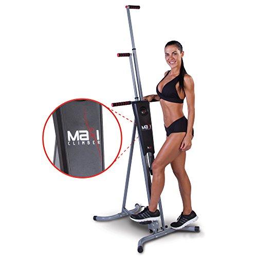Maxi Climber - Macchinario per Arrampicata Verticale di New Image, Ideale per Esercizi Cardio, Unisex, 897666001270, Nero, N/A
