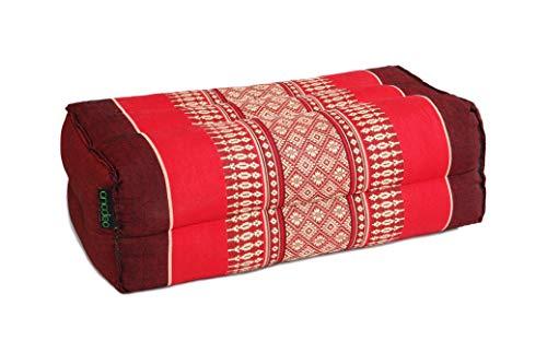 Anadeo YogaProducts – Cuscino da yoga e meditazione standard Zafu – Kapok ad alta densità 100% naturale – comfort e rigidità – stabilità di seduta - rosso borgogna - x1