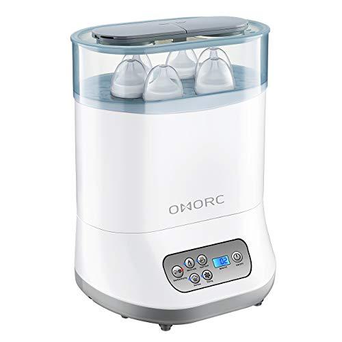 Sterilizzatore Biberon 6 In 1, Asciugatura&Vapore Elettrico, Per 6 Biberon, Spegnimento Automatico, LCD Touch-Screen, Controllo Tempo Preciso
