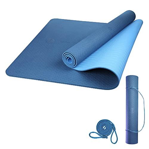 Amazon Brand - Umi - Tappetino Yoga Antiscivolo Pilates Fitness Tappetino Allenamento Esercizi Tappetino Con Cinghia Casa Palestra