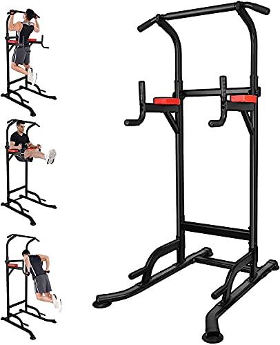 Power Tower, Trainer per Muscoli Addominali, Barra per Trazioni Multifunzionale Muscle Tower, Stabilità, Schiena e Tricipiti, Pull Up - Palestra per Famiglie