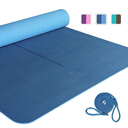 UMI. by Amazon - Tappetino Yoga Antiscivolo Pilates Fitness Tappetino Allenamento Esercizi Tappetino con Cinghia Casa Palestra …