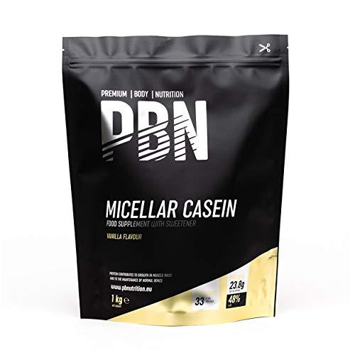PBN - Premium Body Nutrition Integratore di Caseina Micellare, 1 Kg (Pacco da 1), Gusto Vaniglia