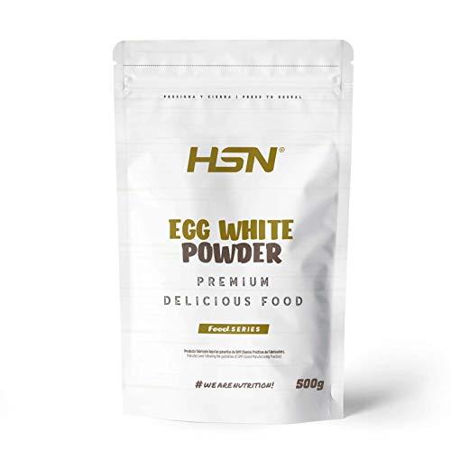 HSN Albumina d'uovo Albumina | 100% Polvere d'uovo Bianca essiccata | Proteine Naturali | Senza Grassi, Senza colesterolo, vegetariana, Senza glutine, Senza lattosio, Sapore Naturale, 500g