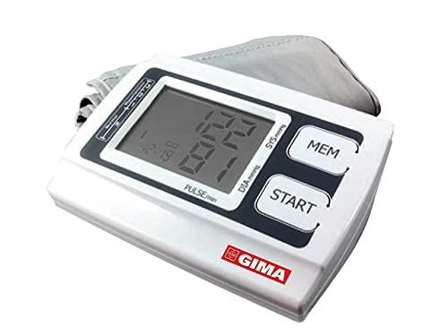 Gima - Sfigmomanometro Digitale Automatico Smart, da Braccio, Misura la Pressione Sanguigna Sistolica e Diastolica e la Frequenza del Battito, per Uso Professionale o Domestico.