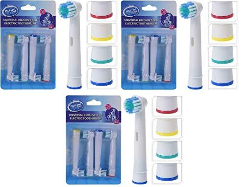 REPLOOD 12 Testine di ricambio Universali per Spazzolino Elettrico Compatibile Oral B