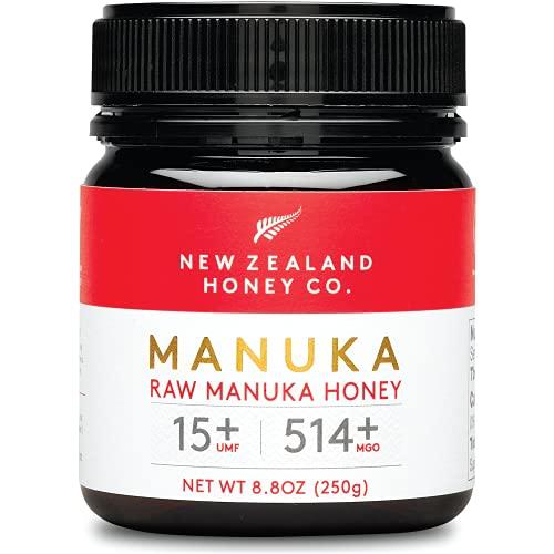 New Zealand Honey Co. Miele di Manuka MGO 514+ / UMF 15+ | Attivo e lordo | Prodotto in Nuova Zelanda | 250g