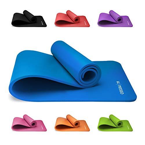 KG Physio Tappetino Fitness Yoga Ginnastica per Palestra Allenamento 180 X 60 cm Spessore 1 cm Ultra Morbido e Resistente Materiale NBR
