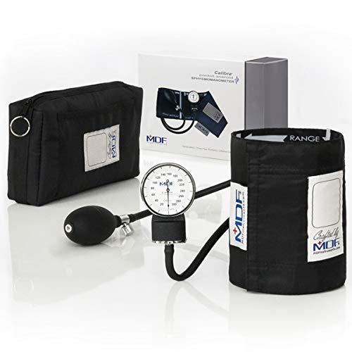 MDF® Calibra® Aneroide Sfigmomanometro - Garanzia a vita & Programma-componenti-gratuite-a-vita - Nero (MDF808M-11)