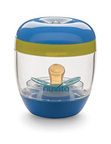 Nuvita 1556 | MellyPlus Sterilizzatore Portatile UV Ultravioletti per Ciuccio, Paracapezzoli e Tettarelle Biberon | Disinfettante 99.9% germi e batteri | Senza BPA | Design Italiano | Porta ciuccio