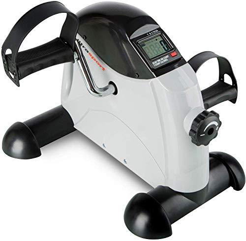 Ultrasport Mini Bike Home trainer Attrezzo Trainer per gambe e braccia, a pedali per anziani e ragazzi, computer di allenamento, resistenza regolabile, portata: 100 kg