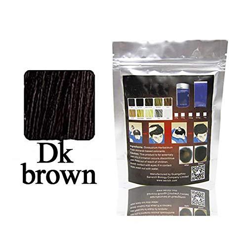 Hilai 1PC Fibre dei Capelli,Hair Fiber,Fibre Costruzione dei Capelli,Il rimedio contro la caduta dei capelli e la calvizie(Marrone scuro)