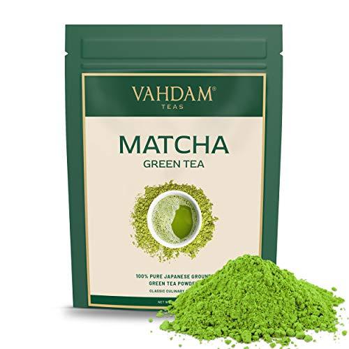 VAHDAM, polvere di tè verde Matcha (100g 50 tazze), polvere di matcha giapponese pura e non certificata certificata al 100%, | 137x Anti-OSSIDANTI | Aumenta l'energia