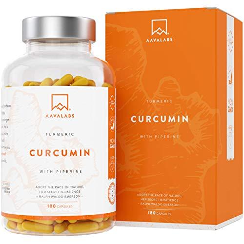 Capsule con Curcuma Curcumina e Piperina 4230 Mg Per dose giornaliera - 95% Estratto di Curcumina - Supporto Naturale per Articolazioni e Ossa - Potente Antiossidante Massimo Assorbimento