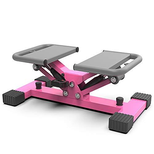 DODOBD Stepper Fitness 2in1 con Elastici incl, Movimento Laterale e Rotante valido Sia per Principianti Che esperti, Ottimo per utilizzo a casa e con Display Multifunzione 100 kg